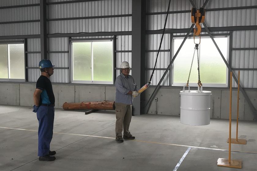 床上操作式クレーン運転技能講習 加藤製作所
